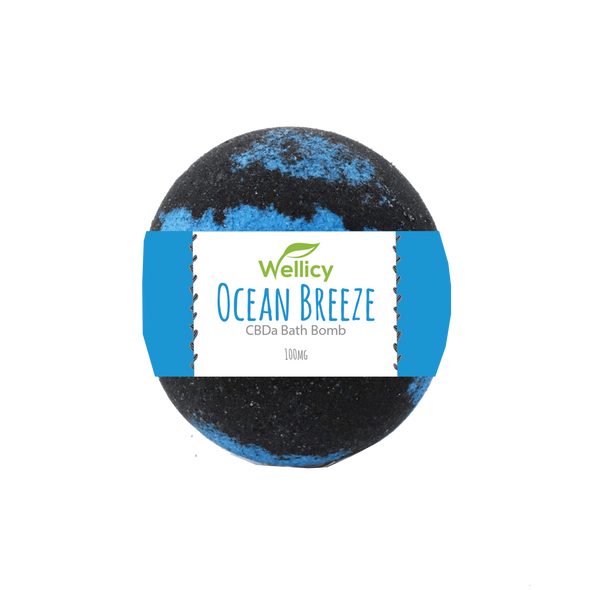 Wellicy 50mg Ocean Breeze CBDa Bath Bomb
