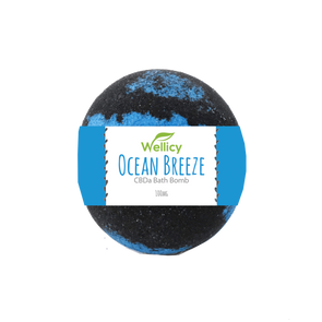Wellicy 100mg Ocean Breeze CBDa Bath Bomb