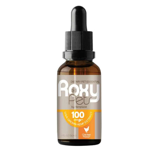 Roxy Pets CBD 100mg Wholeplant - Hemp Seed Oil For Dogs