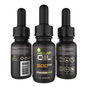 Wellicy 500mg Chocolate Mint CBD Hemp & MCT Oil Tincture