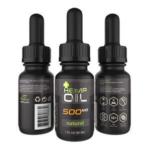 Wellicy 500mg Natural CBD Hemp & MCT Oil Tincture