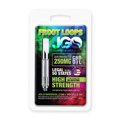 JGO 250mg Froot Loops CBD Oil Cartridge
