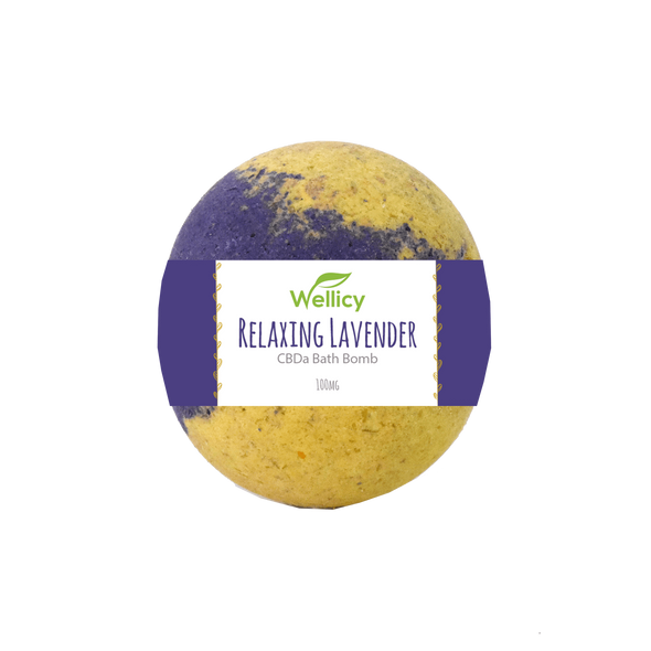 Wellicy 100mg Lavender CBDa Bath Bomb