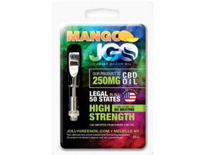 JGO 250mg Mango CBD Oil Cartridge