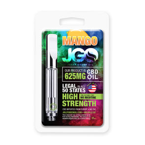 JGO 625mg Mango CBD Oil Cartridge