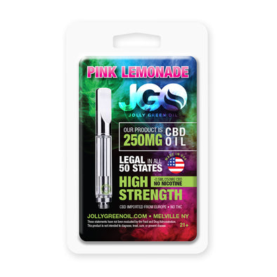 JGO 250mg Pink Lemonade CBD Oil Cartridge