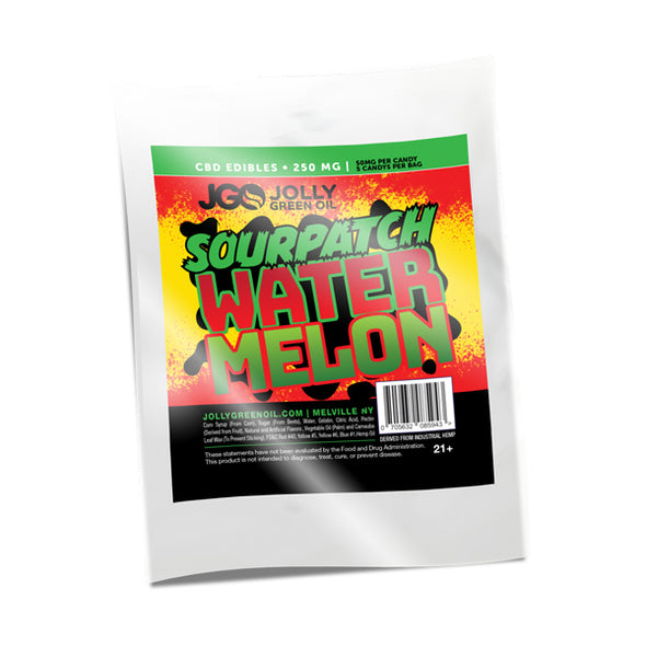 JGO 250mg Sourpatch Watermelon CBD Gummies