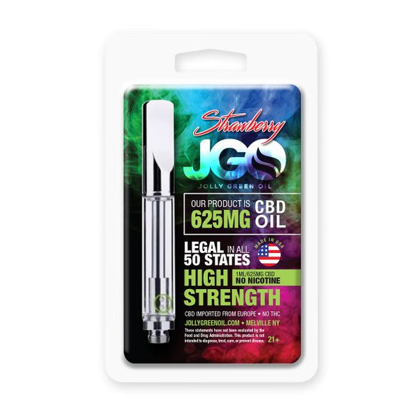 JGO 625mg Strawberry CBD Oil Cartridge