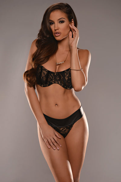 Black Lace High Waist Bottom