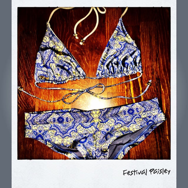Festival Paisley Reversible Signature Skimpy Top & Matching Shorties
