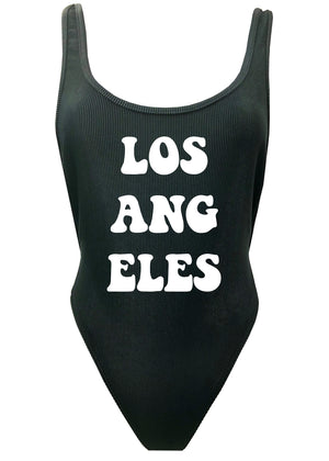Los Angeles Bold Black Skimpy Beater