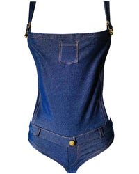 Short & Sweet Denim Shortie-alls