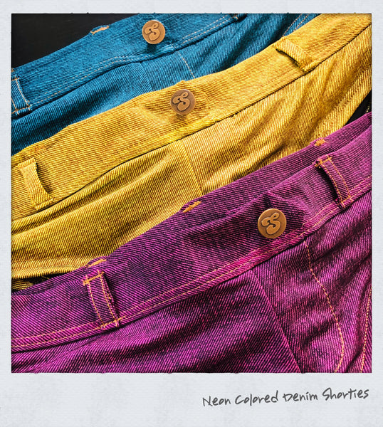 Neon Colored Denim Shorties