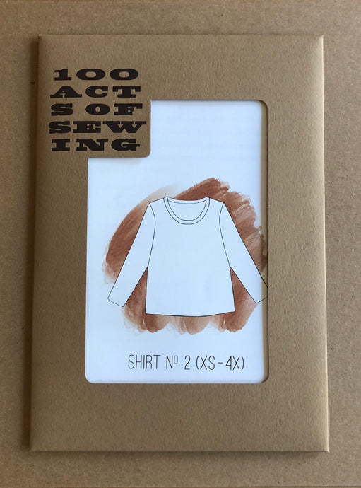Shirt no. 2 sewing pattern in card stock enclosure