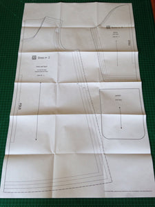 unfolded sewing pattern