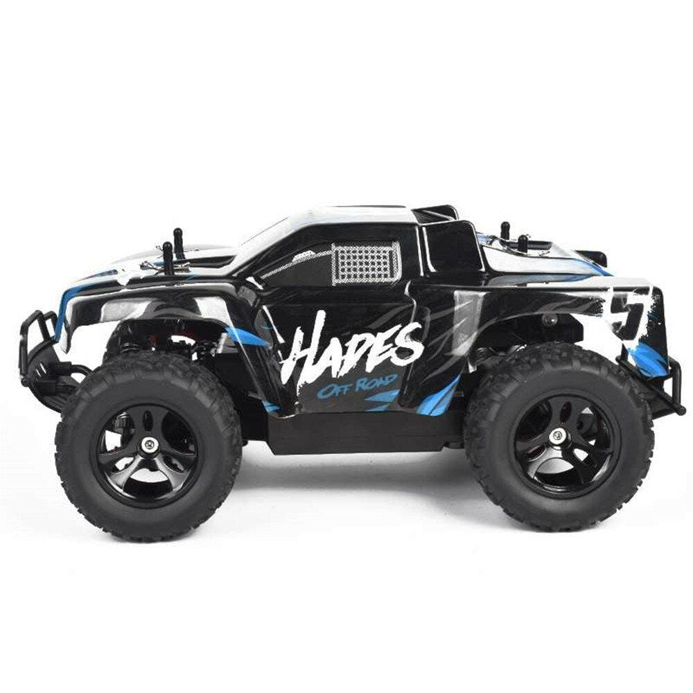 1/14 2.4G RWD 30km/h RC Car Vehicles Models High Speed Off-Road Truck Kid Children Toys - Blue