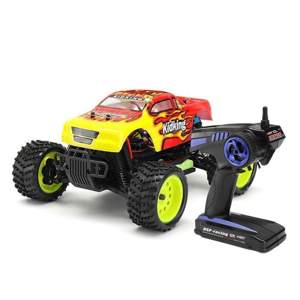 Off-road Bigfoot RC Truck 1.16 4WD Brushed Electric Power HSP 94186 Kidking - RC Cars Store