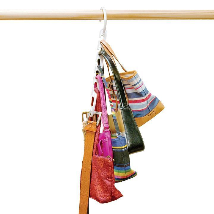 (80% Discount Today) (Buy eight get two free+free shipping)-Magic Hangers Closet Space Saving(Plastic and Metal)