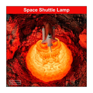 LIMITED EDITION -3D Space Shuttle Night Lamp (Rechargeable)