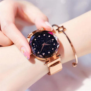Custom Diamond Bling-Bling Magnetic Watchband Engraved Women Watches(Just $25.99)