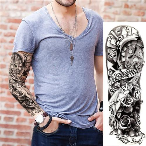 Waterproof Temporary Sleeve Arm Tattoo(QB-011)