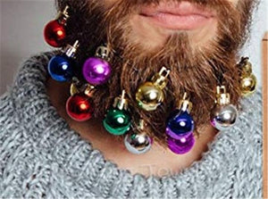 Merry Christmas Beard Ornaments (SET OF 12)