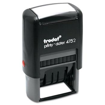 Trodat® Trodat Economy Stamp, Dater, Self-Inking, 1 5/8 x 1, Blue/Red