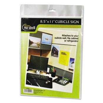 NuDell™ Clear Plastic Sign Holder, All-Purpose, 8 1/2 x 11