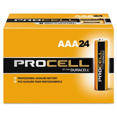 Duracell Products Company Procell Alkaline Batteries, AAA, 24/Box