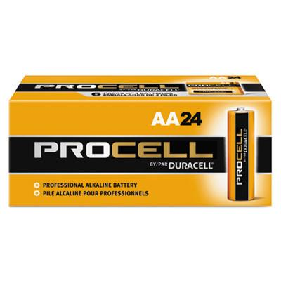 Duracell Products Company Procell Alkaline Batteries, AA, 24/Box