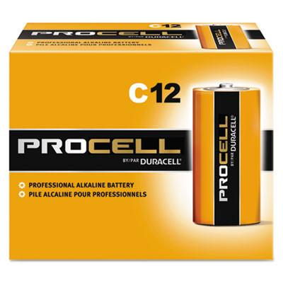 Duracell Products Company Procell Alkaline Batteries, C, 12/Box