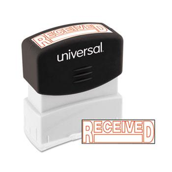 Universal® Message Stamp, RECEIVED, Pre-Inked One-Color, Red