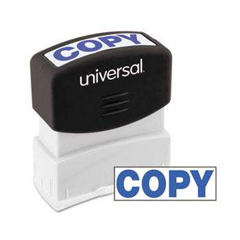 Universal® Message Stamp, COPY, Pre-Inked One-Color, Blue