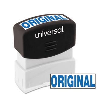 Universal® Message Stamp, ORIGINAL, Pre-Inked One-Color, Blue