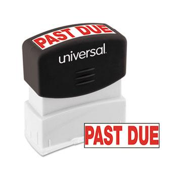 Universal® Message Stamp, PAST DUE, Pre-Inked One-Color, Red