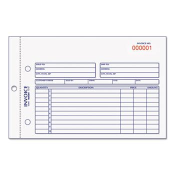 Rediform® Invoice Book, 5 1/2 x 7 7/8, Carbonless Duplicate, 50 Sets/Book
