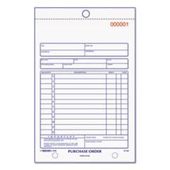 Rediform® Purchase Order Book, Bottom Punch, 5 1/2 x 7 7/8, Two-Part Carbonless, 50 Forms