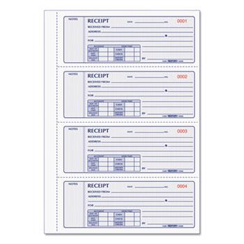 Rediform® Receipt Book, 2 3/4 x 7, Triplicate with Carbons, 200 Sets/Book