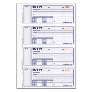 Rediform® Money Receipt Book, 2 3/4 x 7, Carbonless Triplicate, 200 Sets/Book