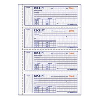Rediform® Money Receipt Book, 2 3/4 x 7, Carbonless Triplicate, 100 Sets/Book