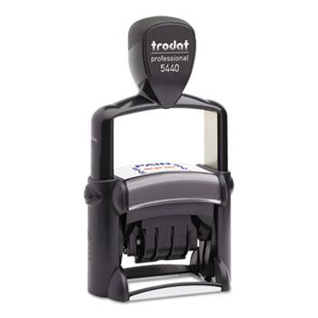 Trodat® Trodat Professional 5-in-1 Date Stamp, Self-Inking, 1 1/8 x 2, Blue/Red