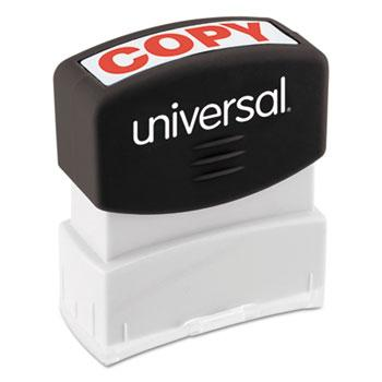 Universal® Message Stamp, COPY, Pre-Inked One-Color, Red