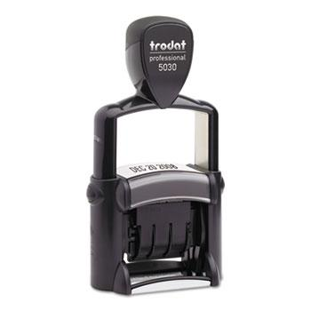Trodat® Trodat Professional Stamp, Dater, Self-Inking, 1 5/8 x 3/8, Black