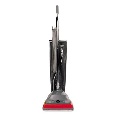 "Sanitaire SC679J Commercial Shake Out Bag Upright Vacuum Cleaner with 5 Amp Motor, 12"" Cleaning Path"