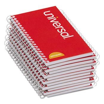 Universal® Wirebound Memo Book, Narrow Rule, 5 x 3, Orange, 12 50 Sheet Pads/Pack