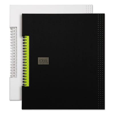 TOPS BUSINESS FORMS Idea Collective Professional Wirebound Hardcover Notebook, 11 x 8 1/2, Black