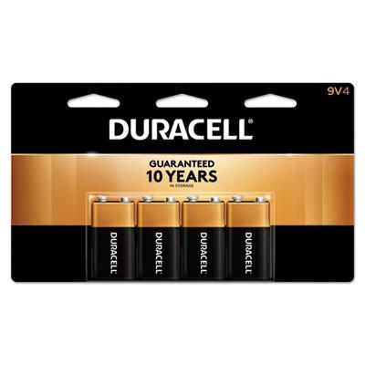 Duracell Products Company CopperTop Alkaline Batteries, 9V, 4/PK