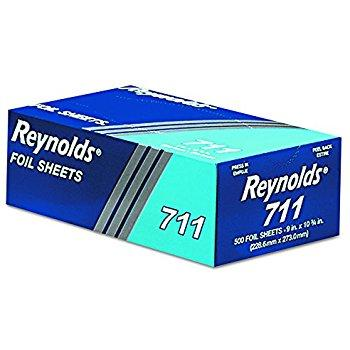 Reynolds Wrap 711 Pop-Up Interfolded Aluminum Foil Sheets, 9 x 10 3/4, Silver 500pk