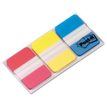 Post-it® Tabs File Tabs, 1 x 1 1/2, Assorted Primary Colors, 66/Pack