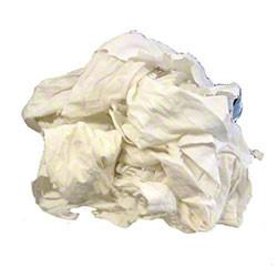 10 lb White Tee Shirt Rags box
